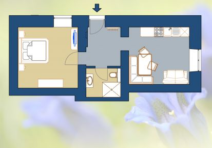 Gletscher Apartment - ground plan Enzian