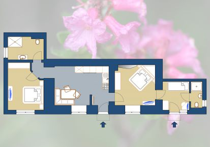 Gletscher Apartment - ground plan Almrausch
